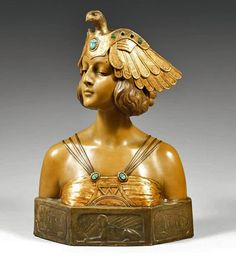 cgmfindings:  Simon Montenave Cleopatra bust with scarab inlays