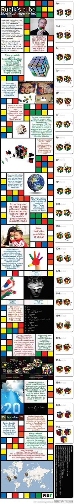 Rubik's cube solved in 20 moves…
