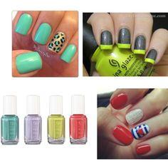 """""""Aviso a """"Trendies"""" las uñas de un solo color están """"out, apúntate al estilo eclético."""" by karycaicedo on Polyvore"""