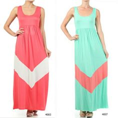 *NEW* Maxi Tank chevron color dress beach wear summer S M L HOT SEXY *2 COLORS*
