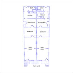 Floor plan of the Gallier House New Orleans Favorite Places