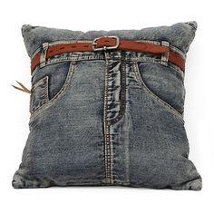 Jeans kussen leuk idee.