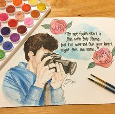 Shawn mendes drawing ♡Pinterest || Malyka125♡