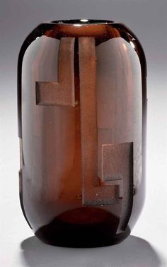 1930_ vase oblong by JEAN LUCE