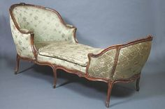 A French 18th century Louis XV walnut Duchesse en bateau. By Jean-Baptiste Gourdin, Paris.