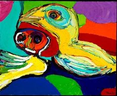 Two Young Girls - Karel Appel
