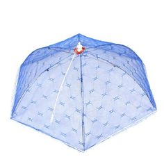 """Amico Home Kitchen White Lace Trim Blue Nylon Mesh Foldable Dish Food Cover Tent by Amico. $4.54. Folded Length (Approx.) : 40 cm / 15.7"""";Net Weight : 72g. Material : Metal, Plastic, Nylon;Main Color : Blue, White. Unfolded Size (Approx.) : 53 x 18 cm / 20.9"""" x 7"""" (D*H);Ribs Number : 6. Product Name : Food Cover;Design : Umbrella. Package Content : 1 x Food Cover. Foldable food cover umbrella, features metal frame, white lace trim, nylon mesh net, blue in colo..."""