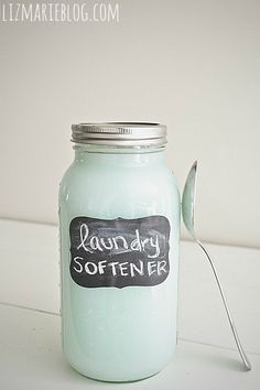 -I love getting my laundry out of the dryer.  I wrap the warmth around my face and inhale the clean aroma permeating the room.  This is a homemade laundry softener I'd like to try.