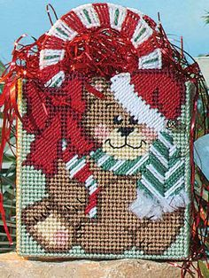 Plastic Canvas - Special Occasions - Christmas - Candy Cane Bear - #FP00555