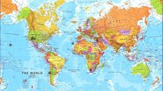 Awesomeworldmapcountrynameshighresolutionwallpaperdownload - World map with country name