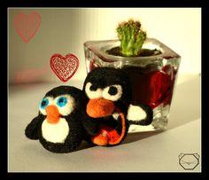 Penguin Couple   Penguin Lover Gift  Handmade soft by KubuHandmade