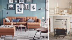 Collage av forskjellige nyheter. Ikea, Gallery Wall, Couch, Collage, Inspiration, Furniture, Home Decor, Biblical Inspiration, Settee
