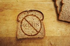No gluten bread sign helps depict the evil of gluten and peoples stance on it.