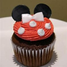 Minnie Mouse cupcake kids-party
