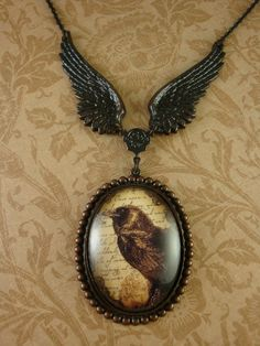 Raven Flight necklace by Ophelia's Adornments