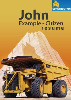 Construction Resume suitable for Commercial Construction - non Residential Construction.
