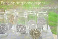 Easy spring candle jars