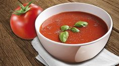 MEDITERRANEAN SOUP 1 Soup = 260 Kcal  Ingredients:  1 bag of COMPLETE VEGETABLE SOUP 300 ml skimmed milk (0,1 %) 1 medium-sized tomato (100 g) 1-2 level tablespoons of tomato paste  (10-20 g) 1-2 tablespoons of fresh basil (chopped), thyme (plucked) 1 pinch of chili Pepper to taste  Preparation:  Warm up the tomato paste with milk. Stir in 1 bag of Complete Vegetable Soup. Cut the tomato into fine cubes and add it together with the herbs to the soup. Add chili, pepper and herbs to taste. Mediterranean Soup, Juice Plus Complete, Skimmed Milk, Tomato Paste, Fresh Basil, Diet And Nutrition, Cubes, Soup Recipes, Chili