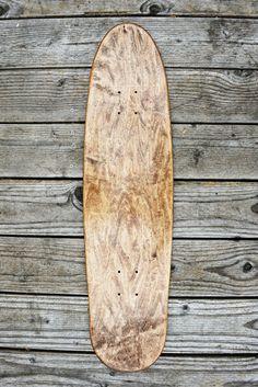natural wood skateboard