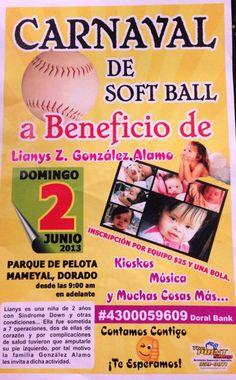Carnaval de Softball: A Beneficio de Lianys Z. González Alamo @ Parque de Pelota, Barrio Mameyal, Dorado