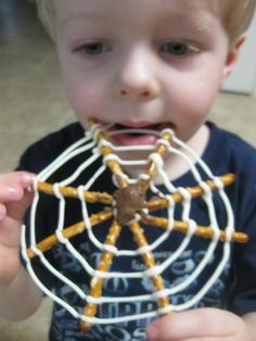 Spider Web Snacks for a snack during the week we're reading Charlotte's Web