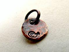 So cute!  #copper #snail #charm #jewelry #miniature #little #etsy