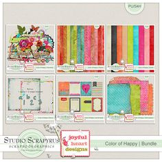 Color of Happy | Bundle by Scrapyrus Designs, available at Scrapbokgraphics