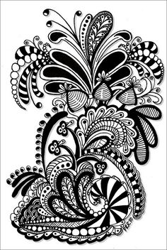 Zentangle, or Zendoodle, is the new drawing craze that everyone's talking about! Whether you're a doodler or an experienced artist, you can Zentangle! Tangle Doodle, Tangle Art, Zen Doodle, Doodle Art, Zentangle Drawings, Doodles Zentangles, Doodle Patterns, Zentangle Patterns, Tattoo Patterns
