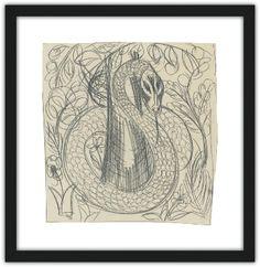 """Estudio para la serpiente, de la serie """"El bestiario"""" de Raoul Dufy disponible en el servicio de Impresión a la carta Raoul Dufy, Museum Shop, Tapestry, Decor, Art Museum, Impressionism, Museums, Studio, Budget"""