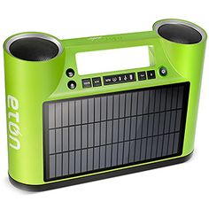 Streams music from iPhone wirelessly, and is powered by solar. I am pretty sure I need this.