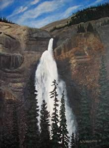 Takakkaw Falls by Wilf Warkentin in the FASO Daily Art Show