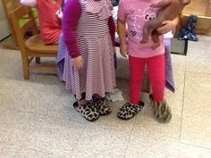 Slippers in dramatic play
