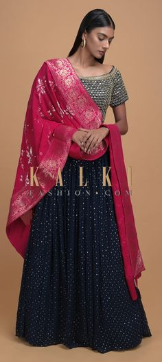 Inspired by Mughal grandeur & ancient techniques, the 'Brocade Narratives' features a profusion of weaves dipped in the luxurious shades of precious jewels. From colors to cuts and trendy designs, the curated styles are all the inspiration you need. Blue Lehenga, Lehenga Choli, Sari, Mehendi, Midnight Blue, Indian Wear, Sequins, Fancy, Wedding Outfits