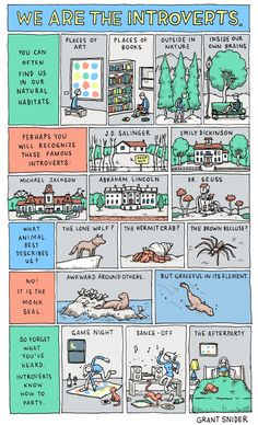 This comic explains how introverts may be a little awkward around others, but are truly graceful in their own element.