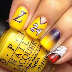 Lakers Nail Art