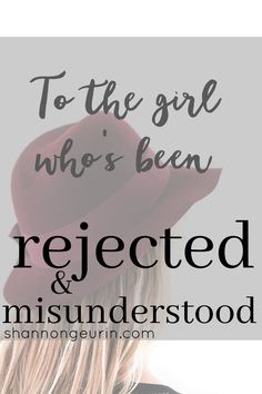 To the girl who's been rejected and misunderstood- you still have purpose! Christian Women, Christian Living, Christian Faith, Christian Singles, Feeling Rejected, Christian Encouragement, Spiritual Encouragement, Christian Inspiration, Inspire Others