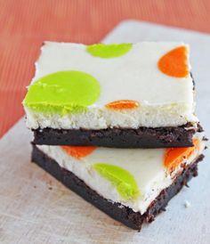 Polka Dot Cheesecake Brownies