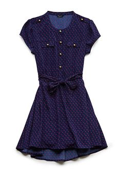 Dotted Floral Shirtdress (Kids) | FOREVER21 girls - 2000088214
