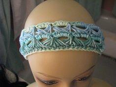 Ravelry: Heat Wave Headband pattern by E.M. Puff Broomstick Lace Crochet, Hairpin Lace Crochet, Freeform Crochet, Tunisian Crochet, Knit Crochet, Crochet Edgings, Crochet Tops, Crochet Flower, Crochet Motif