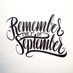 Remember, remember, the 1st of September - made with a brushpen