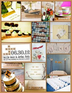 An English Rose, Luxury Lifestyle Weddings - Scrabble Themed Inspiration Board