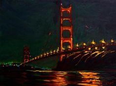 Golden Gate Reflections by Nataliya Tyaglo, $900