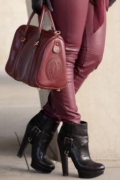 DSMX booties and Cartier Bag