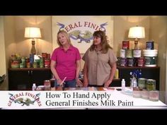 How to Hand Apply General Finishes Milk Paint - YouTube