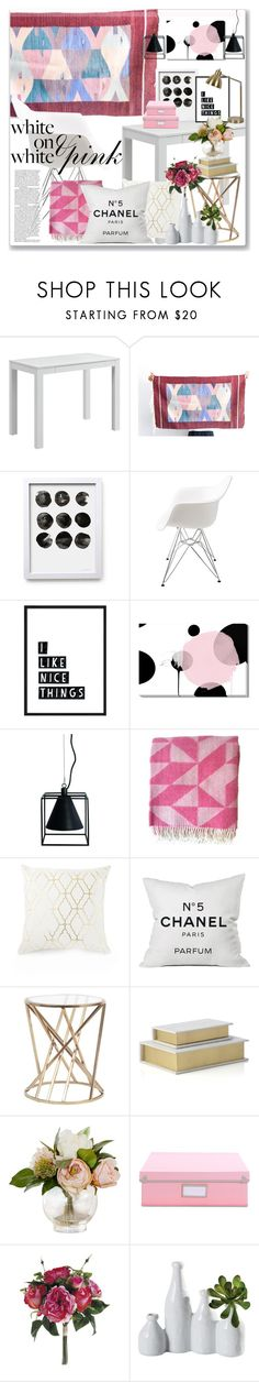 """Home decor idea for office space or dorm room."" by anja-jovanovich on Polyvore featuring interior, interiors, interior design, home, home decor, interior decorating, Ameriwood, Chanel, Dot & Bo and Room Essentials"