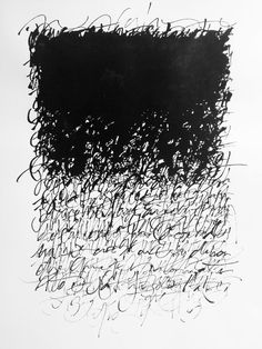 Christophe Badani. Abstract calligraphy. Confidences. 50x70 cm. Chinese Ink on Arches Paper.: