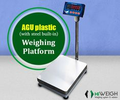 AGU plastic #WeighingPlatform possesses IP68 plastic platform with built-in steel frame & IP67 #Indicator with touch keypads. Get this product @ https://goo.gl/DZwqBr