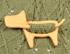Wooden shawl pin, Sweater clasp, Shawl stick, Scarf pin, Eco-friendly gift, Wooden animal, Wood carving, Simple design, Natural color, Dog