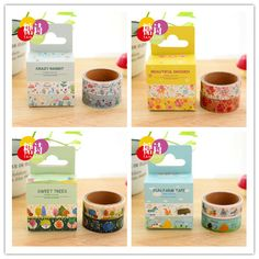 2 pcs/lot (1 bag) DIY New Cute Kawaii Japanese Washi Tape Flower Animal Sweet Tape For home Decoration Diary Free shipping 317
