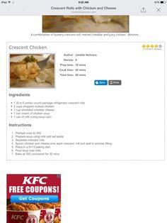 Crescent roll chicken